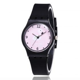 Dívčí silikonové hodinky Plameňáci  Flamingo black