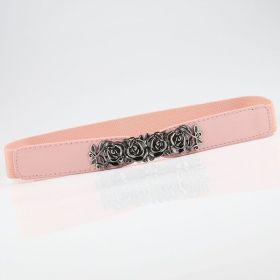 Dámský elastický pásek Baroque Růžový
