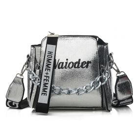 Waioder 1980 dámská crossbody kabelka s řetízkem Stříbrná