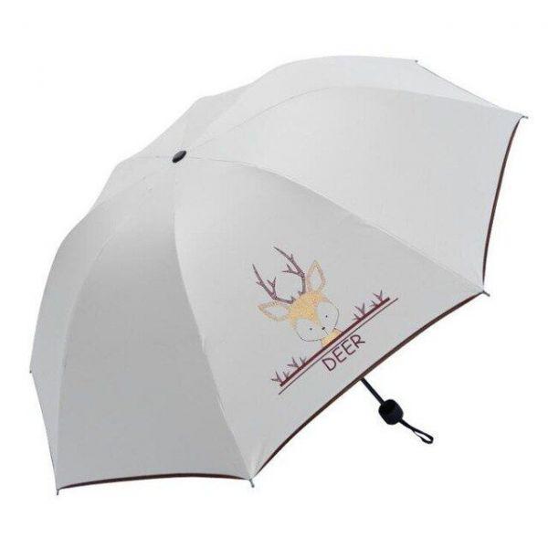 Dívčí skládací deštník Bílý Jelen
