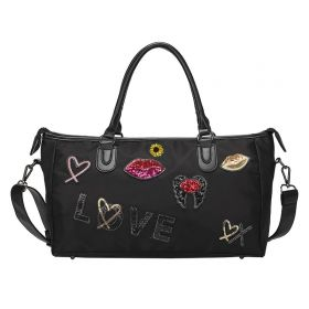 Sportovní cestovní taška LOVE Černá