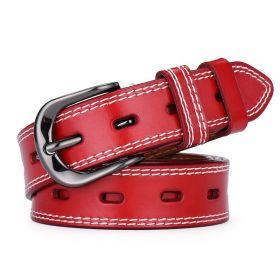 Dámský kožený pásek Červený