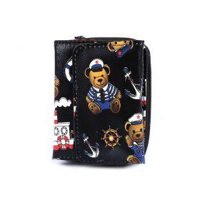Peněženka medvídek námořník Černá