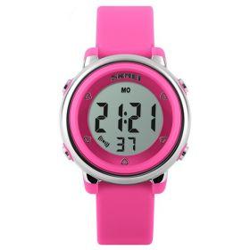 SKMEI 1100 dívčí digitální hodinky Růžové