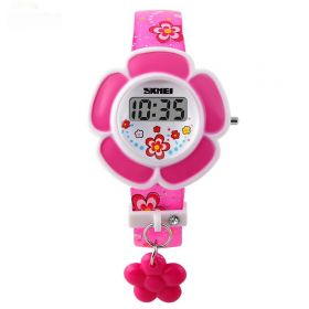 SKMEI 1144 digitální dívčí hodinky Flowers Růžové