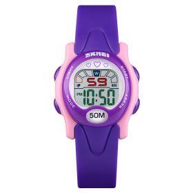SKMEI 1478 dívčí sportovní hodinky Love It  Fialové