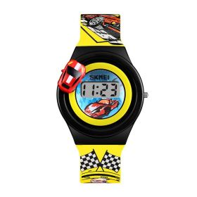 SKMEI 1376 dětské hodinky pro kluky Racer Žluté