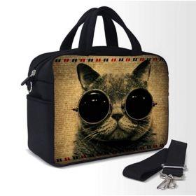 Pikniková termotaška přes rameno Kočka s brýlemi