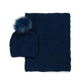 Dámský set čepice a šála Sweet Paris Modrý