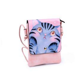 Dívčí malá kabelka s klopou Půdrová kočka