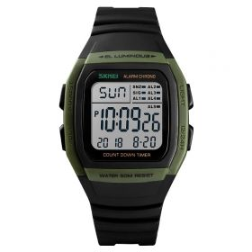 SKMEI 1278  digitální hodinky Retro Age - zelené