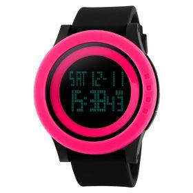 SKMEI 1142 dámské hodinky Grande Neon Růžové
