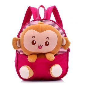 Dětský batůžek s plyšákem Opičkou Růžový