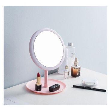 Stolní dívčí kosmetické Zrcadlo Elli Růžové