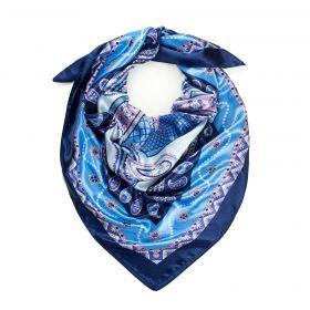 Dámský šátek s ornamenty Orientál Navy Blue