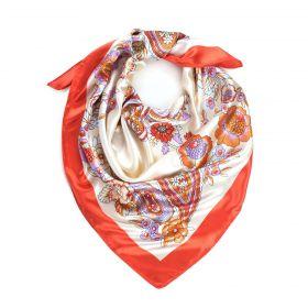 Dámský šátek s ornamenty Flores Orange
