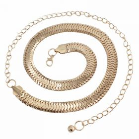 Ozdobný dámský kovový pásek Noemi Zlatý