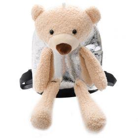 Dětský batůžek s medvídkem Stříbrný