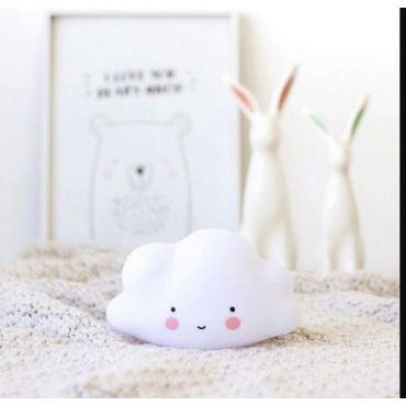 Dětská stolní led lampa Bílý obláček