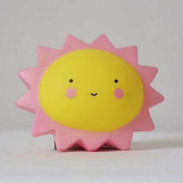 Dětská stolní led lampa Růžové sluníčko