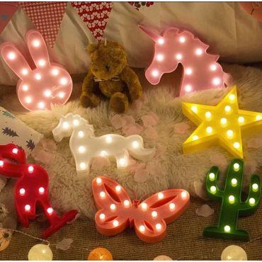 Dětská stolní led lampa Žlutá hvězda