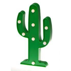 Dětská stolní led lampa Zelený kaktus