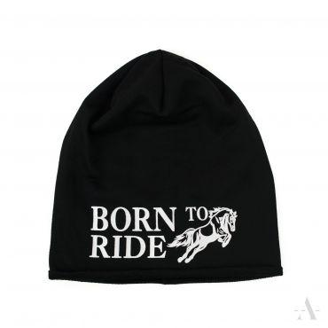 Beanie Unisex čepice Born to ride Černá