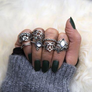 Sada Bohém prstenů 10ks MONIQUE