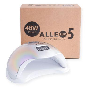 ALLELUX 5 UV led lampa na nehty 48W Rainbow silver