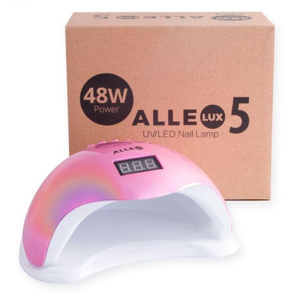 ALLELUX 5 UV led lampa na nehty 48W Rainbow pink