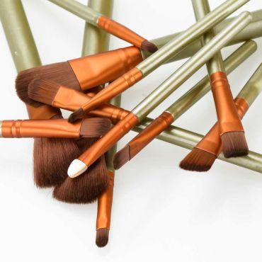 Shimia sada 12 kusů kosmetických štětců Perleť