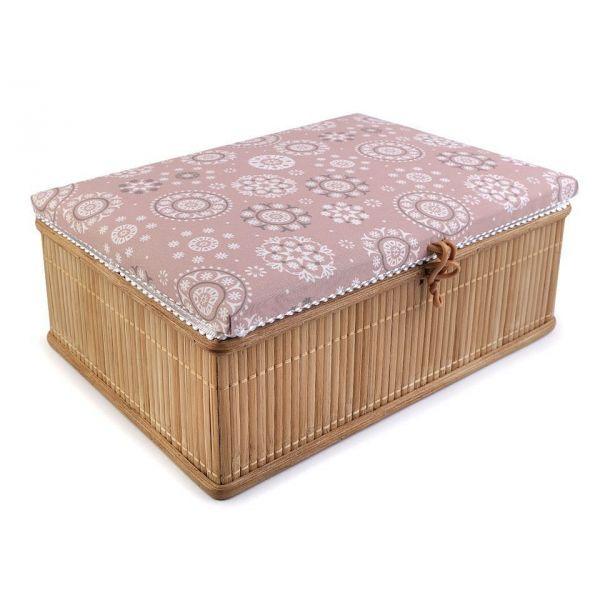 Dřevěný Box na šití Starorůžová