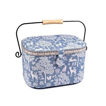 Čalouněný Košík na šicí potřeby  Vintage Modrá