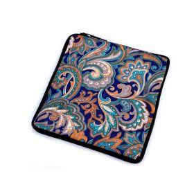 Pevná skládací nákupní taška se zipem Modrá paisley