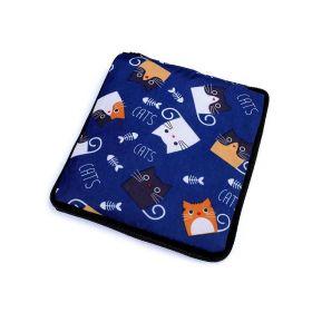 Pevná skládací nákupní taška se zipem Modrá kočka