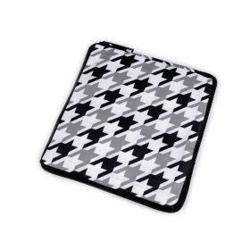 Pevná skládací nákupní taška se zipem Bílá-černá