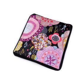 Pevná skládací nákupní taška se zipem Kulaté květy