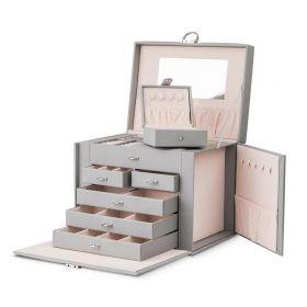 Stenberg Luxusní kufřík na šperky ETUI Šedá