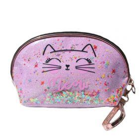 Dívčí kosmetická taška Meow CAT s flitry