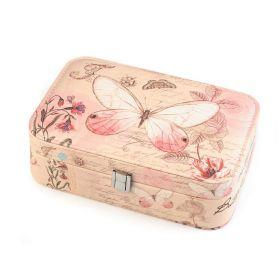 Šperkovnice se zrcátkem Růžový motýlek