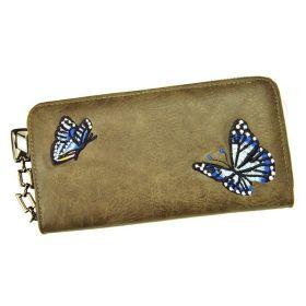 Eslee Dámská peněženka Butterfly Camel