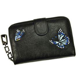 Eslee Dámská peněženka Butterfly Černá
