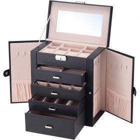 Luxusní kufřík na šperky i hodinky ETUI černé