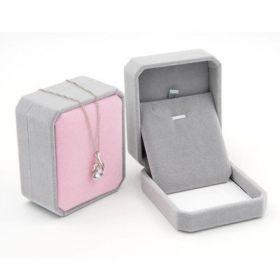 Dárková krabička Šedo-ružový samet 7 × 7 x 4 cm