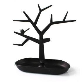 Strom na šperky s ptáčkem Černý