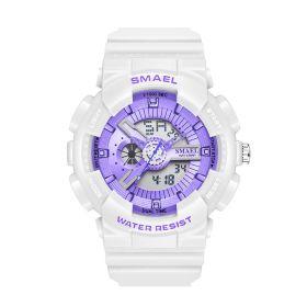 SMAEL1402 dámské duální hodinky Fialová