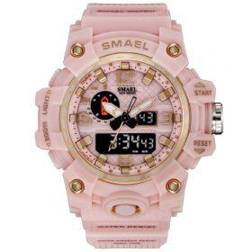 SMAEL 1811 dámské duální hodinky Růžové