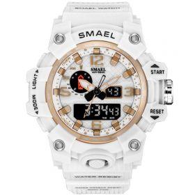 SMAEL 1811 dámské duální hodinky Bílé-gold
