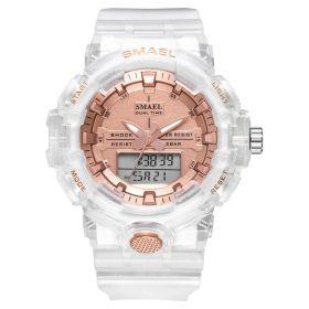Smael 8025 Dámské duální hodinky Zlaté