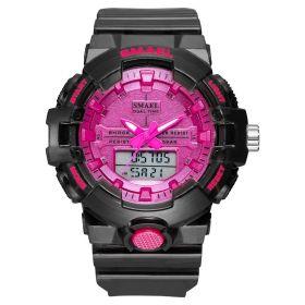 Smael 8025 Dámské duální hodinky Růžové